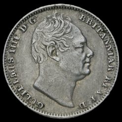 1837 William IV Milled Silver Maundy Fourpence Obverse