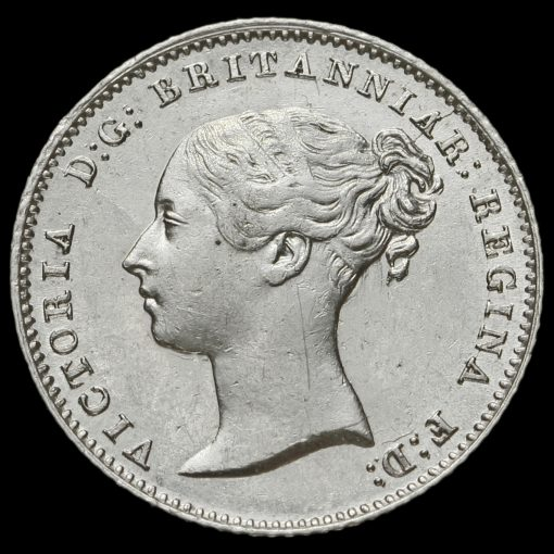 1842 Queen Victoria Young Head Silver Fourpence / Groat Obverse