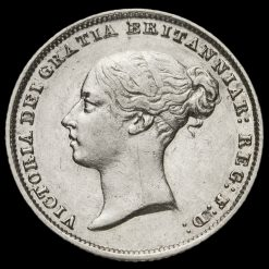 1856 Queen Victoria Young Head Silver Sixpence Obverse
