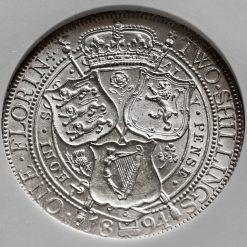 1894 Queen Victoria Veiled Head Silver Florin Reverse