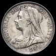 1895 Queen Victoria Veiled Head Silver Half Crown Obverse