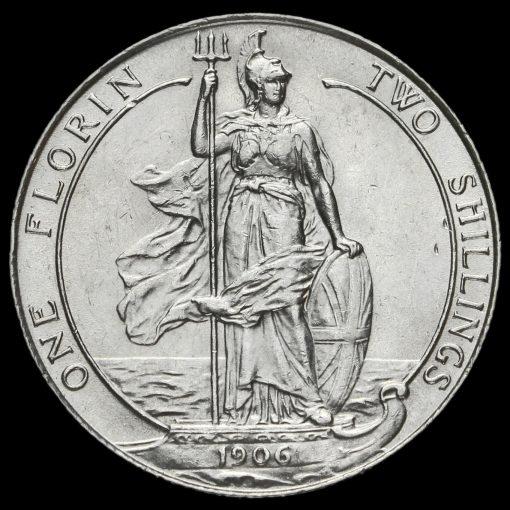 1906 Edward VII Silver Florin Reverse