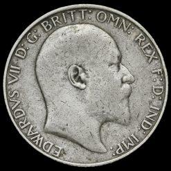 1908 Edward VII Silver Florin Obverse