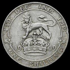 1909 Edward VII Silver Shilling Reverse