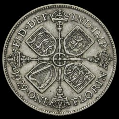 1929 George V Silver Florin Reverse
