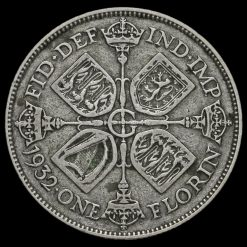 1932 George V Silver Florin Reverse