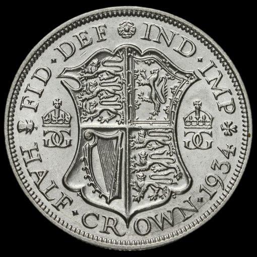 1934 George V Silver Half Crown Reverse