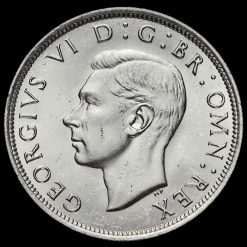 1942 George VI Silver Half Crown Obverse