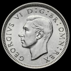 1945 George VI Silver Sixpence Obverse