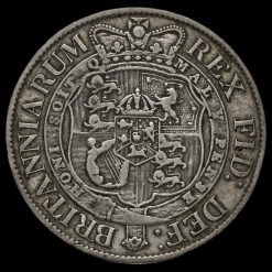 1818 George III Milled Silver Half Crown Reverse