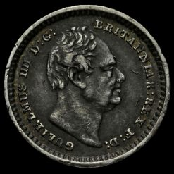1834 William IV Milled Silver Three-Halfpence Obverse