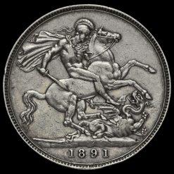1891 Queen Victoria Jubilee Head Silver Crown Reverse