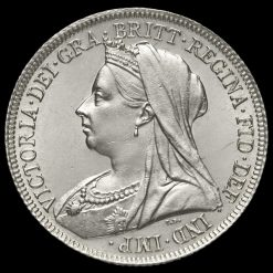 1898 Queen Victoria Veiled Head Silver Shilling Obverse