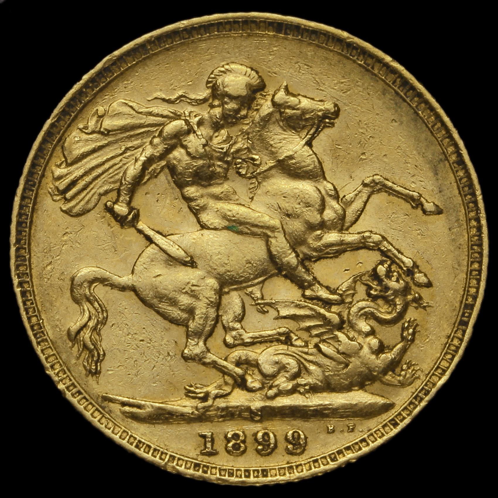 1899 Queen Victoria Veiled Head Full Sovereign, Sydney Mint