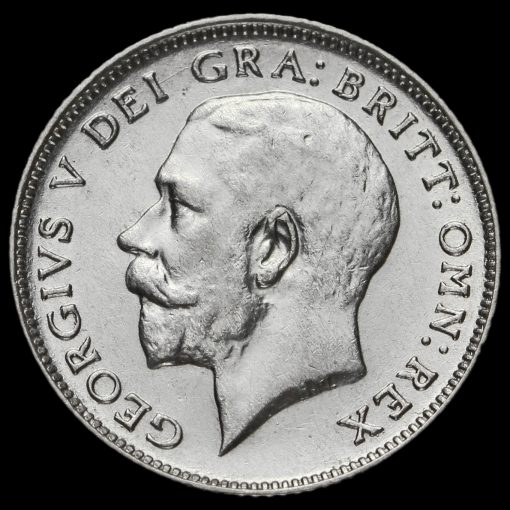1922 George V Silver Sixpence Obverse