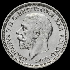 1934 George V Silver Threepence Obverse