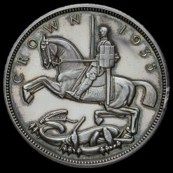 1935 George V Rocking Horse Raised Edge Silver Proof Crown Reverse