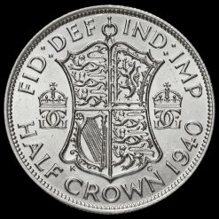 1940 George VI Silver Half Crown Reverse