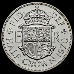 1970 Elizabeth II Proof Half Crown Reverse