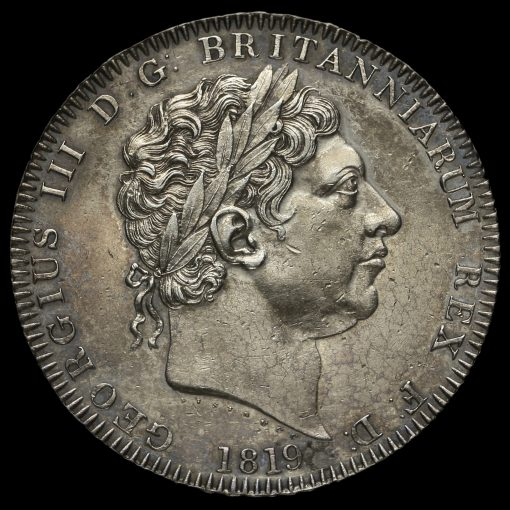 1819 George III Milled Silver LIX Crown Obverse