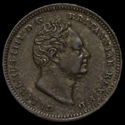 1837 William IV Milled Silver Fourpence / Groat Obverse