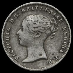 1839 Queen Victoria Silver Fourpence / Groat Obverse