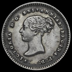 1841 Queen Victoria Young Head Silver Maundy Twopence Obverse