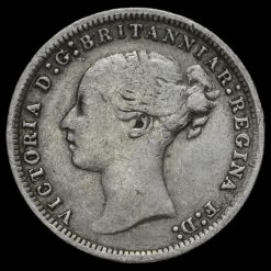 1873 Queen Victoria Young Head Silver Threepence Obverse