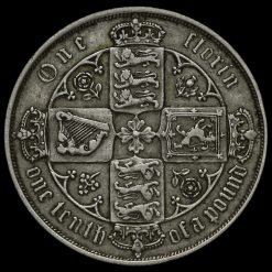 1883 Queen Victoria Gothic Florin Reverse