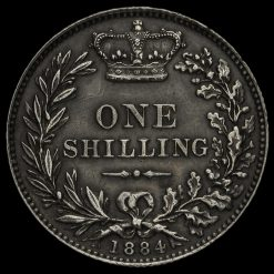 1884 Queen Victoria Young Head Silver Shilling Reverse