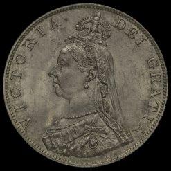1887 Queen Victoria Jubilee Head Double Florin Obverse