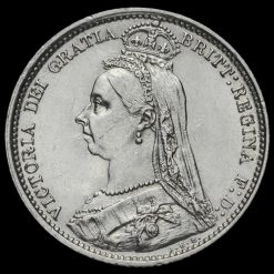 1889 Queen VictoriaJubilee Head Silver Sixpence Obverse