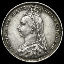 1890 Queen Victoria Jubilee Head Silver Sixpence Obverse