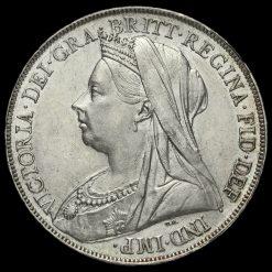 1900 Queen Victoria Veiled Head LXIII Crown Obverse