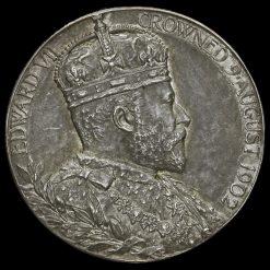 1902 Edward VII Coronation Official Silver Medal Obverse