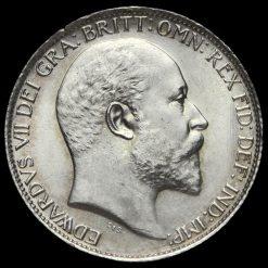 1902 Edward VII Silver Sixpence Obverse