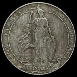 1905 Edward VII Silver Florin Reverse