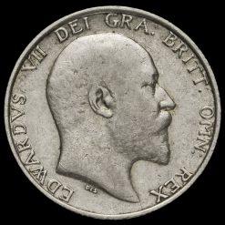 1909 Edward VII Silver Shilling Obverse