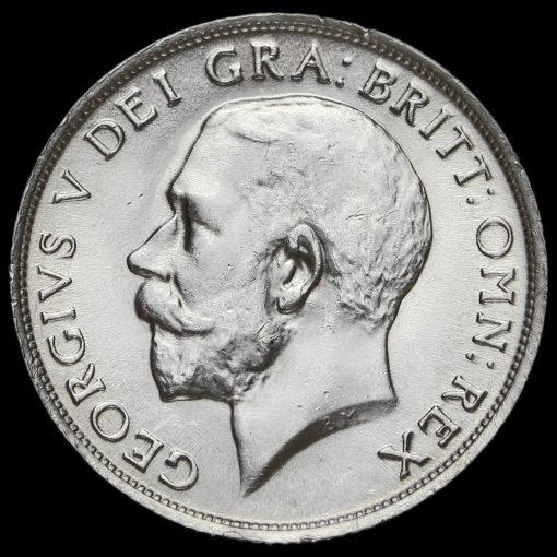 1915 George V Silver Shilling Obverse