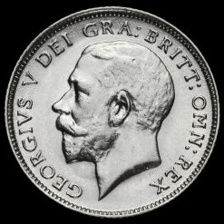 1917 George V Silver Sixpence Obverse
