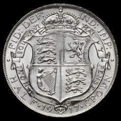 1917 George V Silver Half Crown Reverse