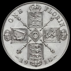 1918 George V Silver Florin Reverse