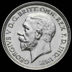 1928 George V Silver Sixpence Obverse