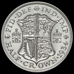 1934 George V Silver Half Crown Reverse