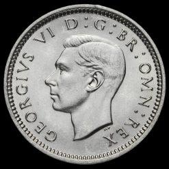 1939 George VI Silver Threepence Obverse