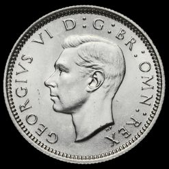 1940 George VI Silver Sixpence Obverse