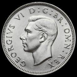 1940 George VI SilverScottish Shilling Obverse