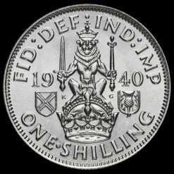 1940 George VI SilverScottish Shilling Reverse