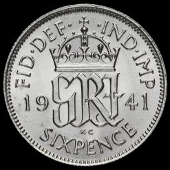 1941 George VI Silver Sixpence Reverse