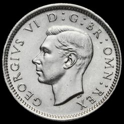 1943 George VI Silver Sixpence Obverse